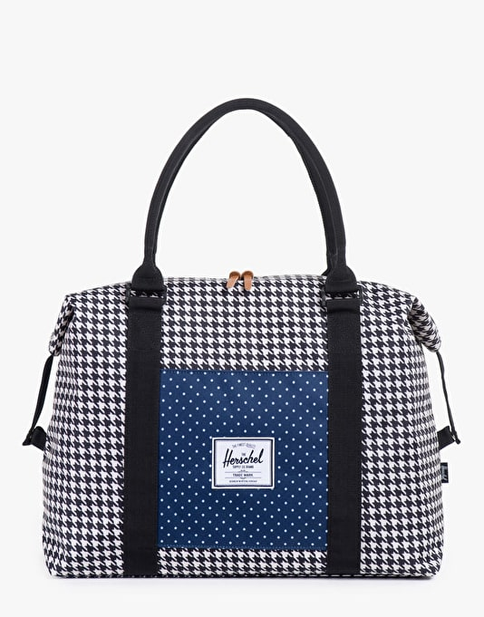 Herschel Supply Co. Strand Duffel Bag - Houndstooth/Navy Polka Dot