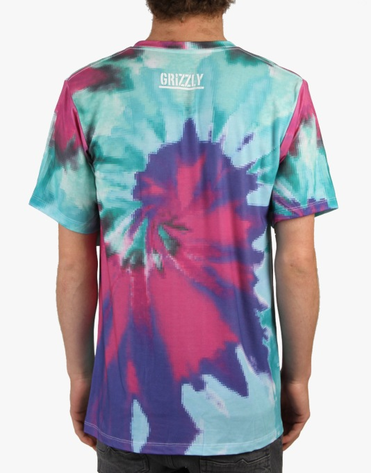 Grizzly Digi Tie Dye T-Shirt - Cotton Candy