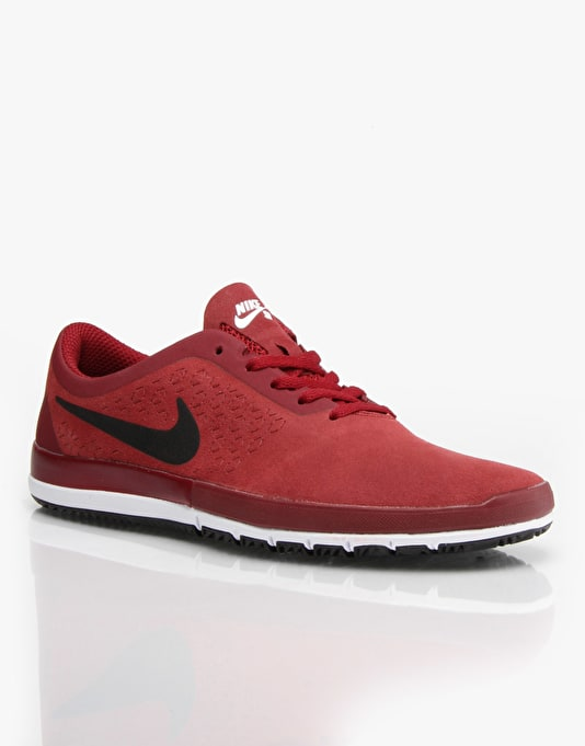 Nike SB Free Nano Skate Shoes - Team Red/Black/White