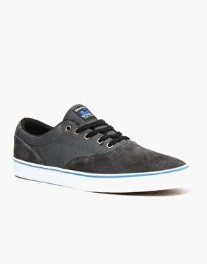 Emerica x Toy Machine Provost Slim Vulc Skate Shoes - Black/Grey