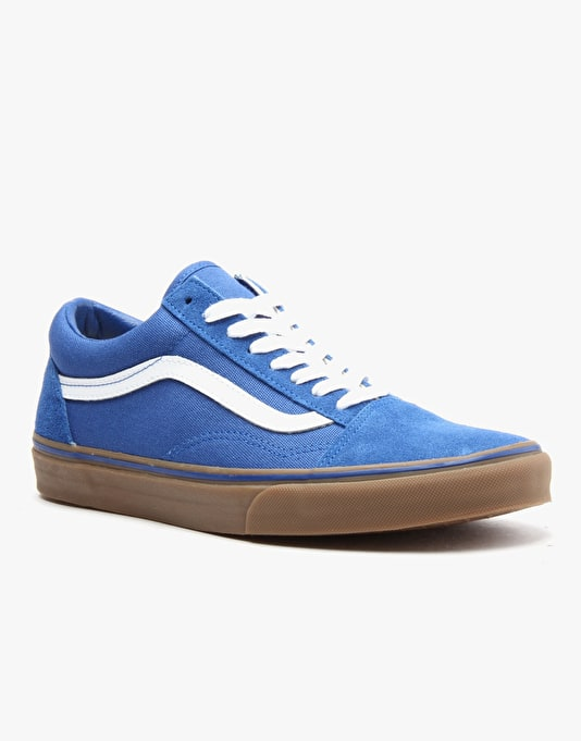 Vans Old Skool Skate Shoes - (Gumsole) Olympian Blue/Medium Gum