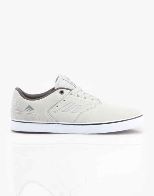 Emerica The Reynolds Low Vulc Skate Shoes - Light Grey/Black