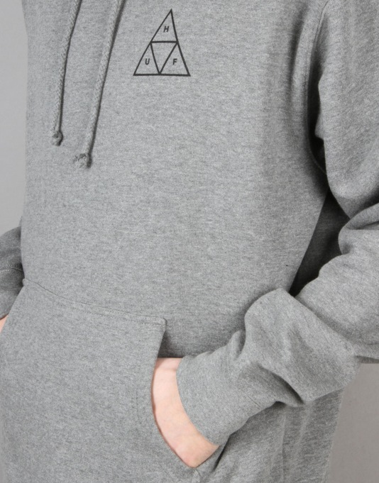 HUF Triple Triangle Pullover Hoodie - Heather Grey