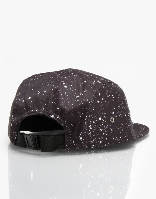 Nicce Speckle 5 Panel Cap - Black/White