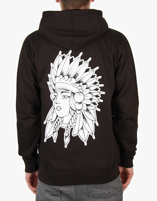 Scarred For Life Chief Zip Hoodie - Black