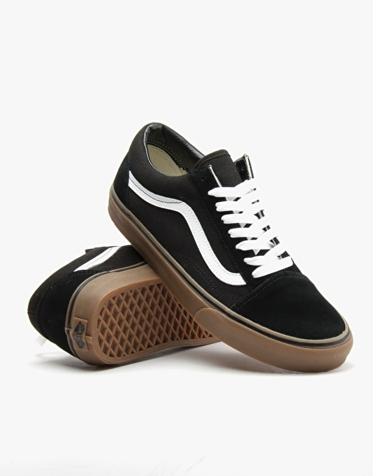 Vans Old Skool Skate Shoes - (Gumsole) Black/Medium Gum