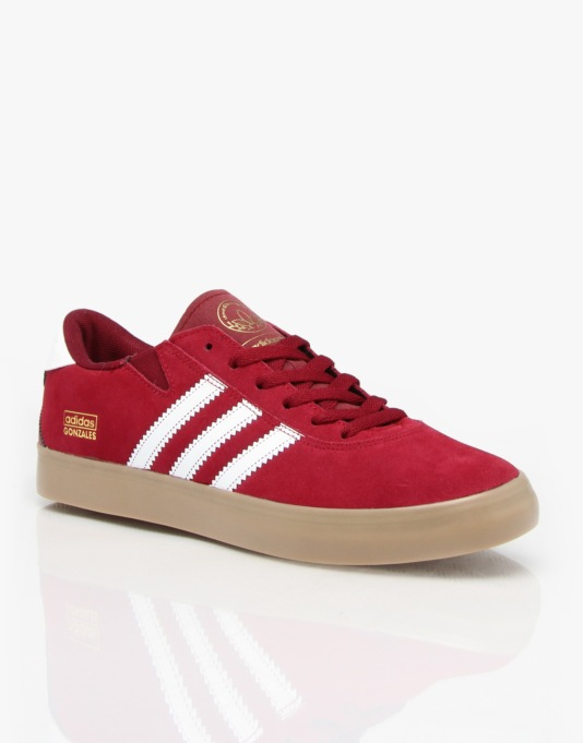 Adidas Gonz Pro Skate Shoes - Collegiate Burgundy/White/Gum
