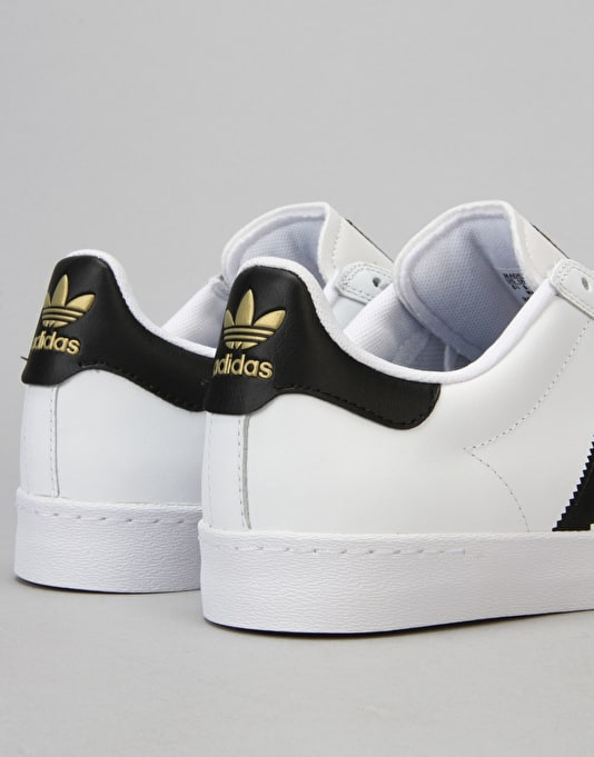 Adidas Superstar Vulc ADV Skate Shoes - White/Core Black/Ftwr White