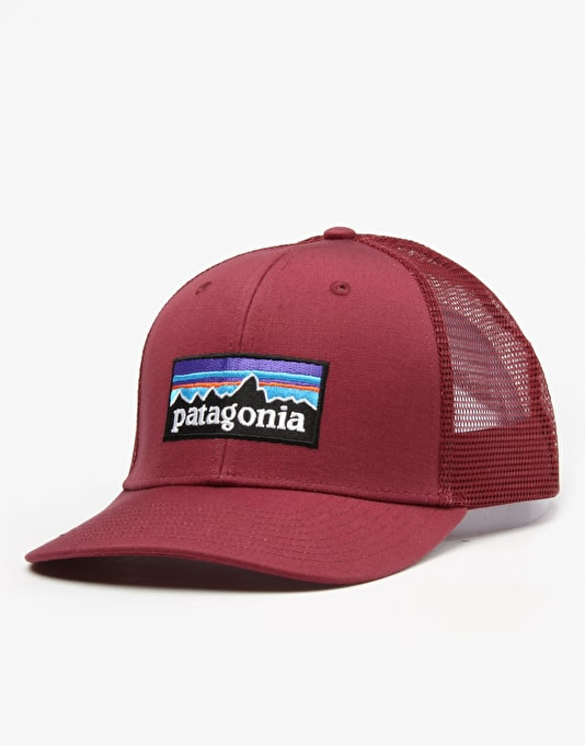 Patagonia P6 Trucker Cap - Oxblood Red