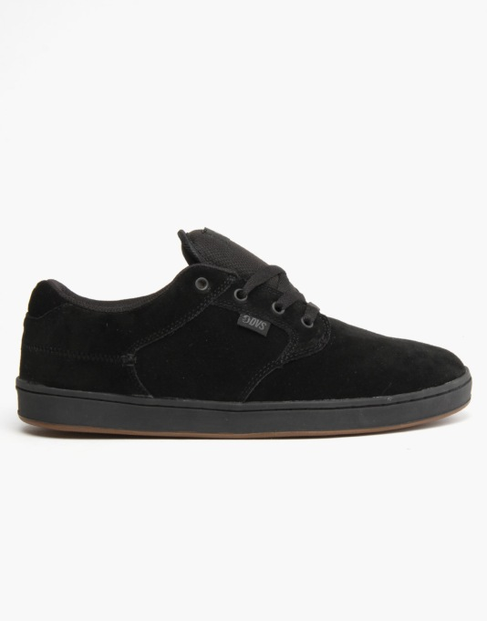 DVS Quentin Skate Shoes - Black Suede