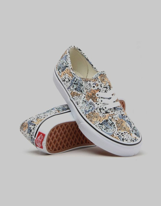 Vans Authentic Boys Skate Shoes - (Wild Cat) True White