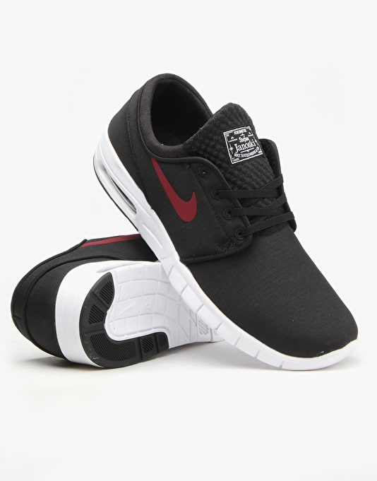 Nike SB Stefan Janoski Max Shoes - Black/Team Red-White
