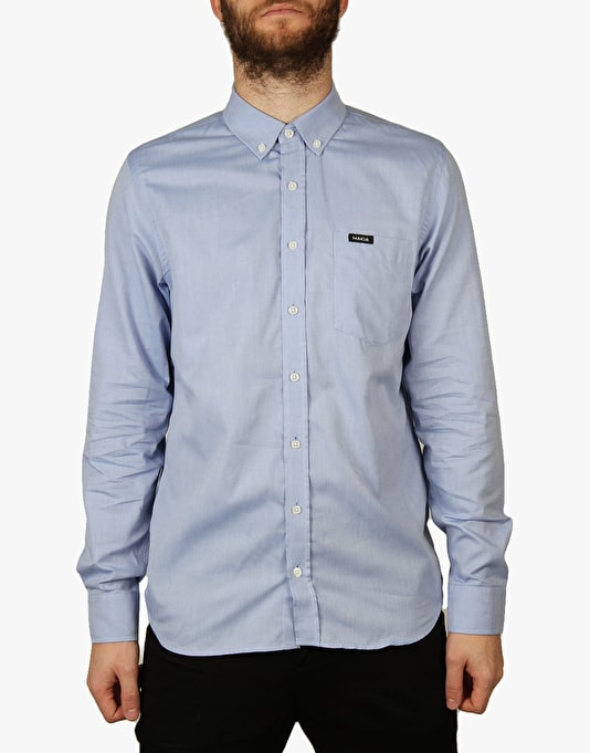 Makia Flagship L/S Shirt - Blue