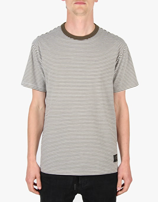 Levi's Skateboarding 2 Pack T-Shirt - Olive & White Stripe/Black