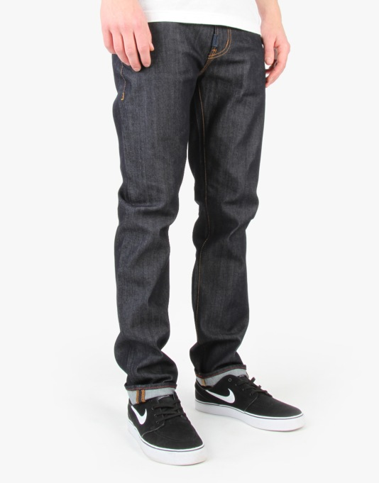 LRG Slim Straight Denim Jeans - Dry Blue
