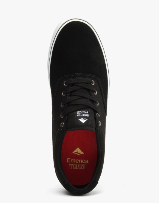 Emerica Provost Slim Vulc Skate Shoes - Black/White