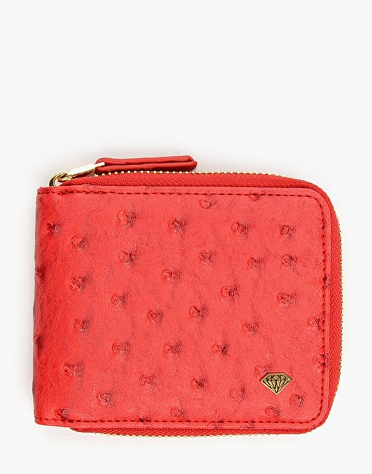 Diamond Supply Co. Ostrich Zip Wallet - Red