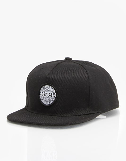 Pass Port Portals Snapback Cap - Black
