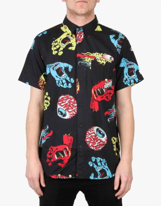 Santa Cruz Mash Up SS Shirt - Black