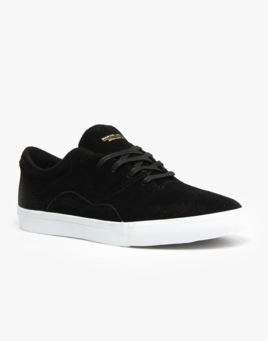 Diamond Lafayette SMU Skate Shoes - Black/White/Ltd
