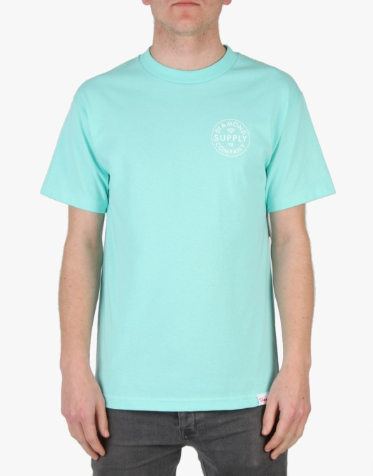 Diamond Supply Co. Stamped T-Shirt - Diamond Blue