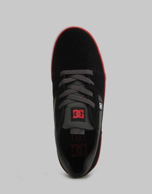 DC Tonik Boys Skate Shoes - Black/Red/Grey