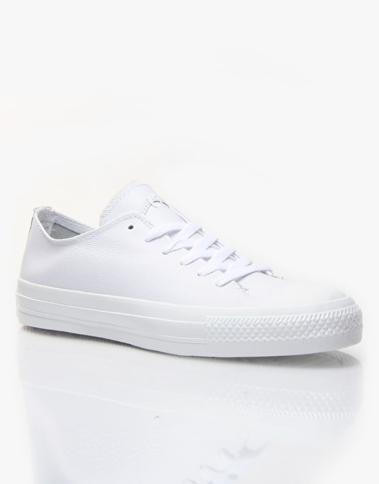 Converse Sawyer Skate Shoes - White/White