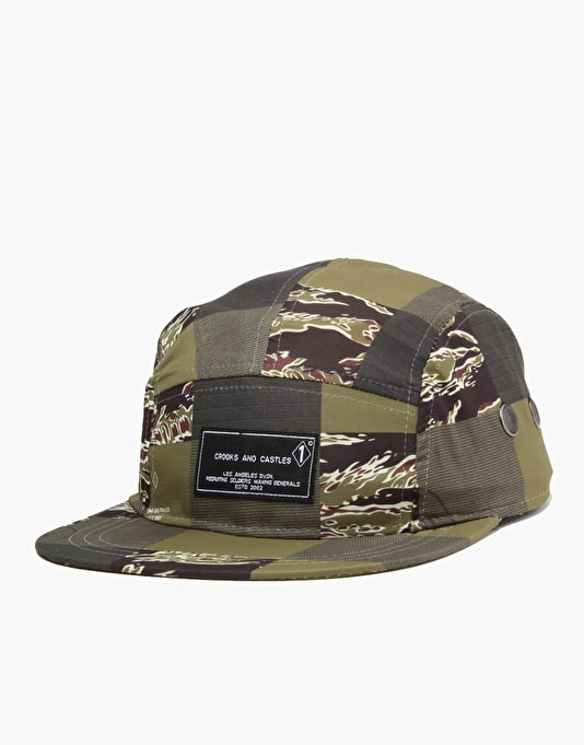 Crooks & Castles Patchwork Camo 5 Panel Cap - Patchwork Camo