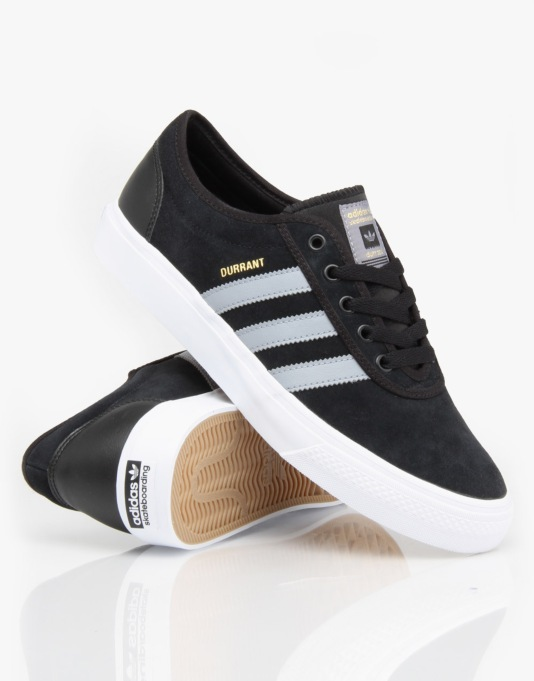 Adidas Adi-Ease Pro (Dennis Durrant) Skate Shoes - Black/Grey/White