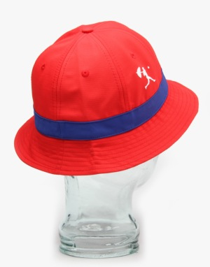 Hélas Lebob 6 Panel Bucket Hat - Red/Navy