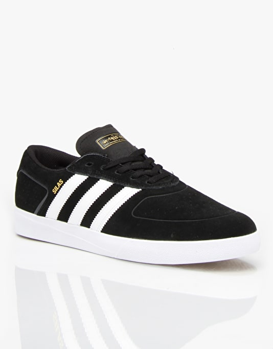 Adidas Silas Vulc Skate Shoes - Core Black/White/Power Red