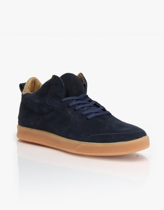 Globe Abyss (Chris Haslam Signature) Skate Shoes - Navy Tan