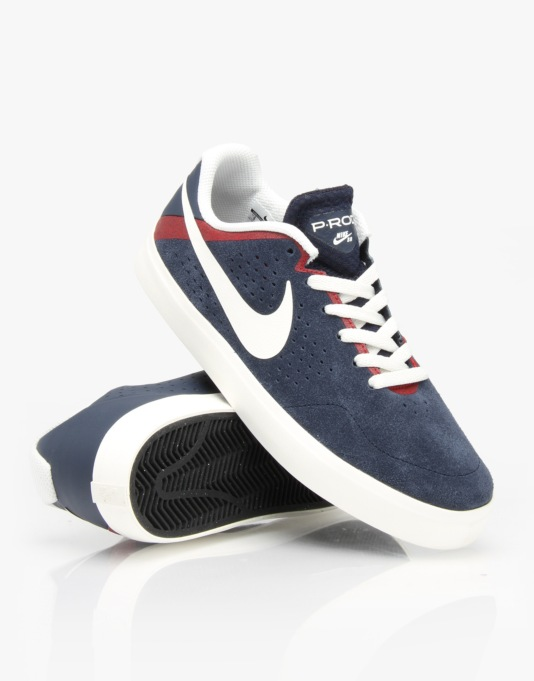 Nike SB Paul Rodriguez Citadel LR - Obsidian/Sail - Gym Red - Black