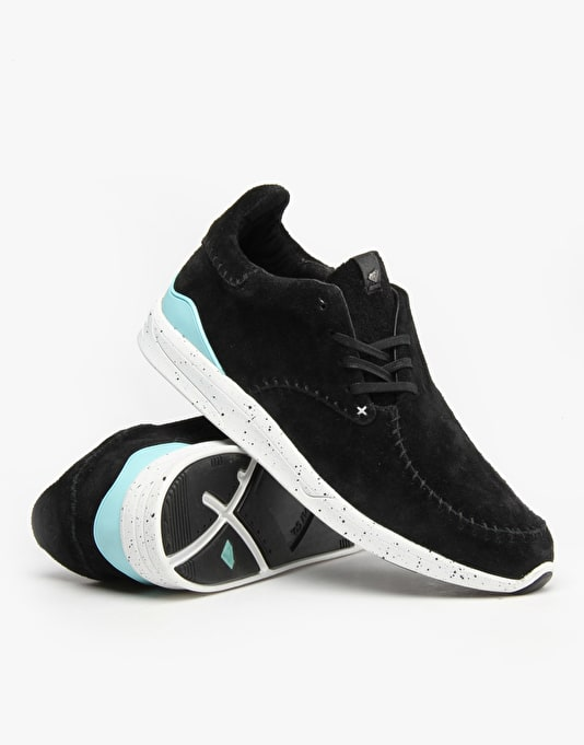 Diamond Trek Low Shoes - Black Suede