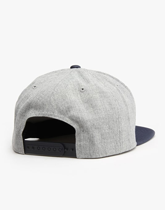 Volcom Quarter Fabric Snapback Cap - Heather Grey
