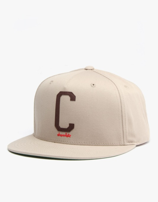 Chocolate League C Cotton Twill Snapback Cap - Khaki