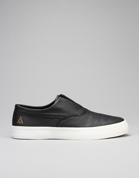 HUF Dylan Slip On Skate Shoes - Black