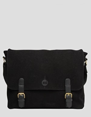 Mi-Pac Suede Messenger Bag - Black
