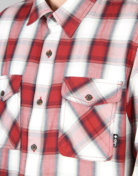 LRG Syndicate L/S Poplin Woven Shirt - Redskin Red