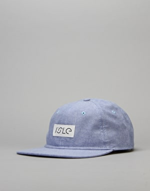 Isle Logo 6 Panel Cap - Blue Chambray