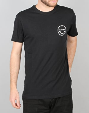 Element Smiley Face SS T-Shirt - Flint Black