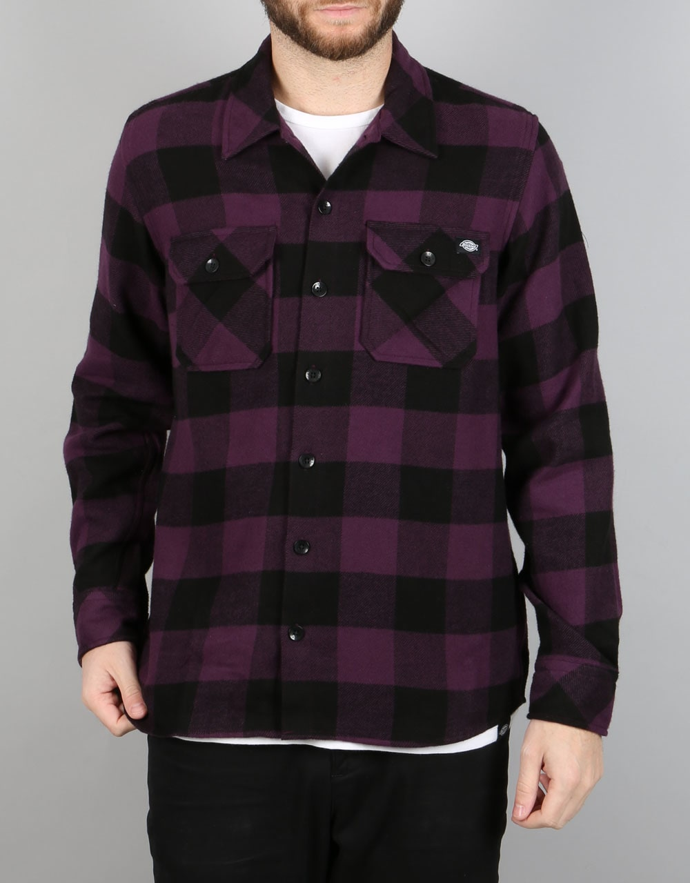 Dickies sacramento shirt plum long sleeve skate shirts for Dickey shirts clothing co