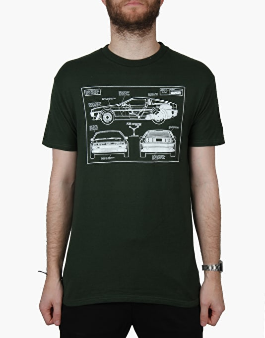The Hundreds x Back to the Future Plans T-Shirt - Forest
