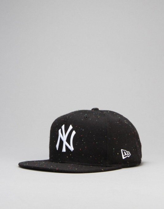 New Era MLB New York Yankees Snap Speckle 9Fifty Snapback Cap - Black