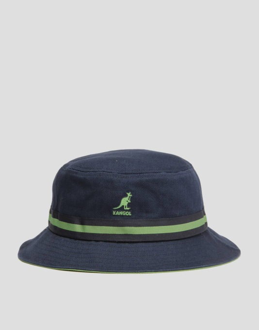 a121e715eb4 Kangol Stripe Lahinch Bucket Hat - Navy