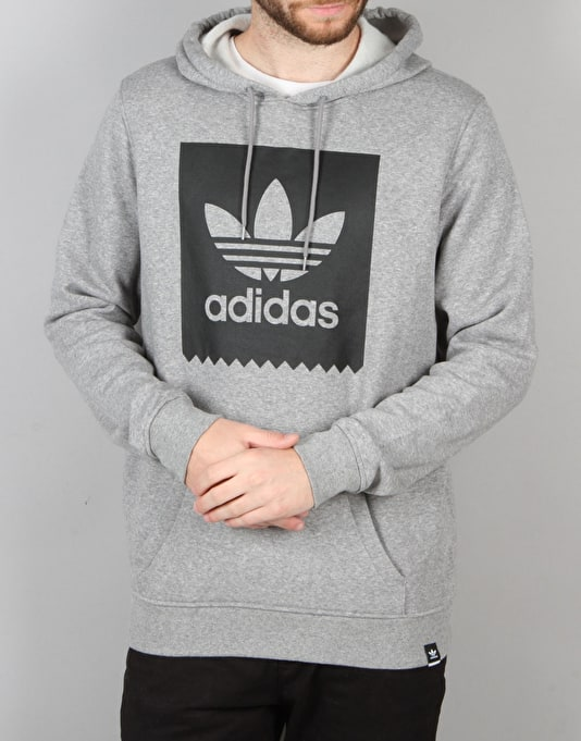 Adidas Blackbird Basic Pullover Hoodie - Core Heather/Black