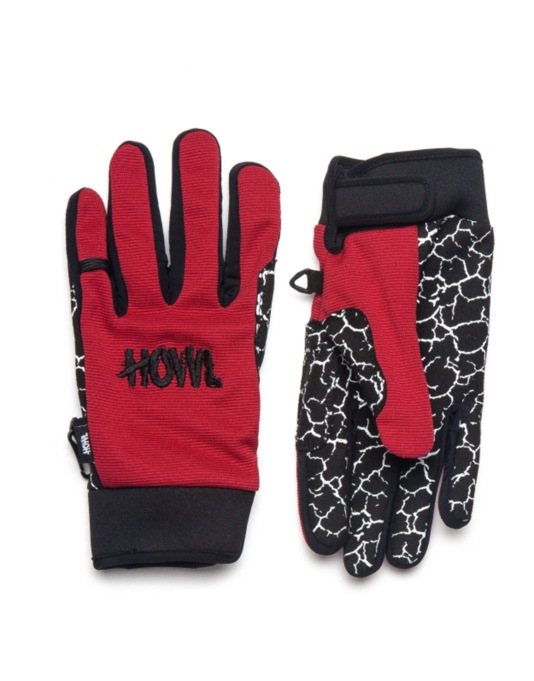 Howl Jeepster 2016 Snowboard Gloves - Red