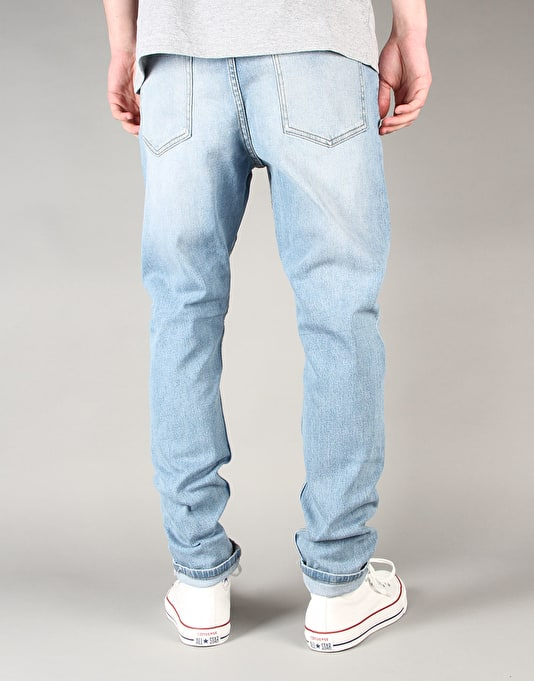 Cheap Monday Dropped Tapered Jeans - Stonewash Blue