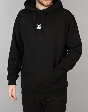 Obey Half Face Pullover Hoodie - Black