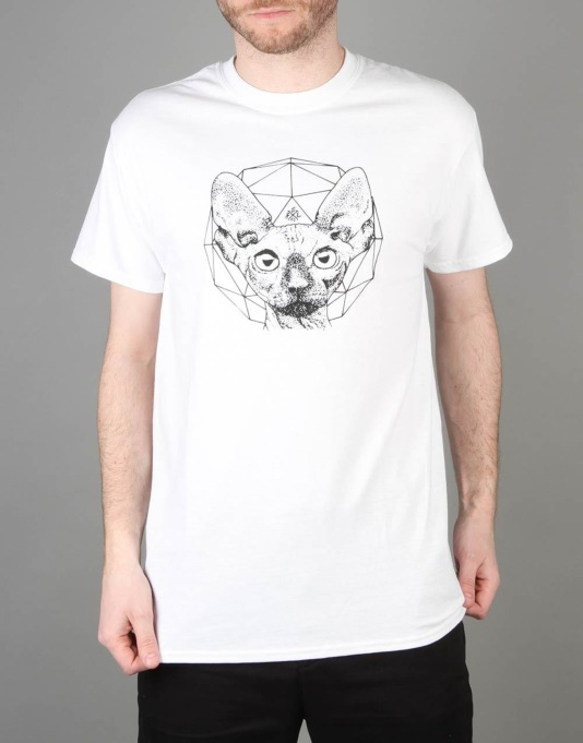 Scarred For Life Cat T-Shirt - White
